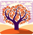 Art graphic of creative tree growing on wond vector image vector image