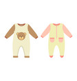 baby clothes rompers set vector image vector image