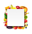 banner with fruits and vegetables vector image vector image