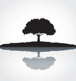 Black tree and shadow vector image