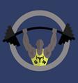 bodybuilding gym logo vector image