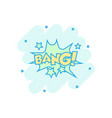 cartoon bang comic sound effects icon in comic vector image