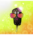 cartoon ice cream icon with colored sunglasses on vector image vector image