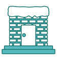chimney with door and stairs vector image vector image