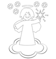 Christmas angel with the star vector image