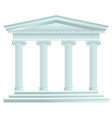 classical antique greek palace vector image vector image