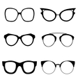 Collection of various glasses To be worn by women vector image vector image