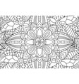 coloring book page with decorative floral pattern vector image vector image