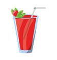 delicious and fresh juice vector image