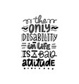 dont judge disability vector image vector image