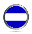 El Salvador flag button vector image vector image