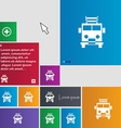 Fire engine icon sign buttons Modern interface vector image