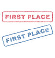 first place textile stamps vector image vector image