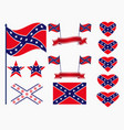 flag of the confederates a set of icons stars vector image vector image