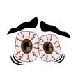 Frightened cartoon eyes icon vector image