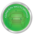 GREEN MOTORING vector image