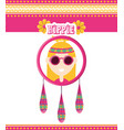 hippie woman concept peace and love vector image vector image