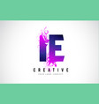 ie i e purple letter logo design with liquid vector image vector image