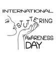 International stuttering awareness day contour of