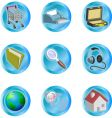 internet web icons vector image vector image