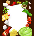 kitchen recipe note cooking page in food frame vector image