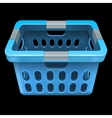 Laundry basket Isolated on black vector image vector image