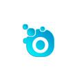 letter o bubble logo template or icon vector image