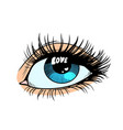 love catchlight in the eye vector image vector image