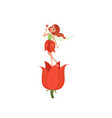 lovely fairy with little magic wings hovering over vector image vector image