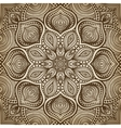 mandala brown circular pattern background vector image vector image