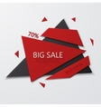 Modern big sale and best offer banner on vector image