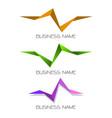 multiple triangle company logo vector image