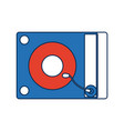 music dj party turntable technology and electronic vector image