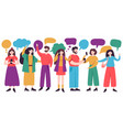 people conversation male and female characters vector image vector image