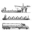 petroleum extraction logo design template vector image