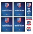 Presidential election banner or poster set vector image