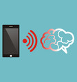 radiation from mobile phone lead to brain damage vector image