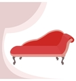 Red vintage sofa vector image