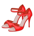 Red woman tango high heels icon cartoon style vector image