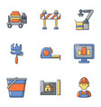 replacement icons set cartoon style vector image vector image