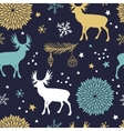 seamless pattern with trees deers and vector image