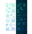set of 2 startup creative vertical banners in thin vector image vector image