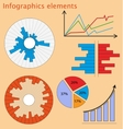 Set of elements for business infographic vector image