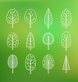 Set of trees on blurred background vector image vector image