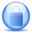 Shopping bag sign button vector image