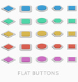 Simple Flat design buttons vector image vector image