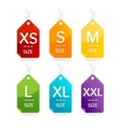 Size Clothing Labels Set vector image vector image