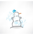snowman grunge icon vector image vector image