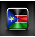 South Sudan flag national travel icon country vector image vector image