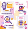 special offers and info about online assistants vector image vector image